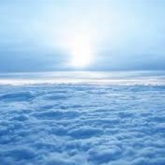 View of endless clouds from above