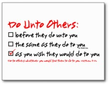 Checklist for doing unto others
