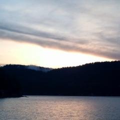 Sunrise on Summit Lake, WA