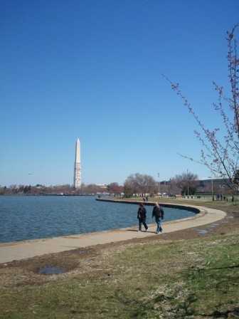 Washington Monument Across Tidal Basin