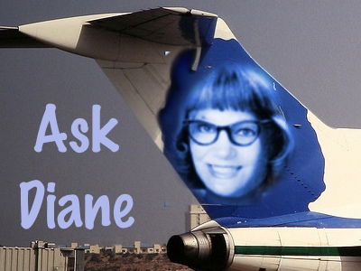 Diane's face on airplane tail fin