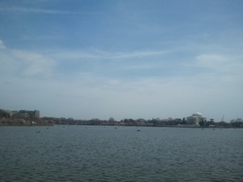 "The Tidal Basin, also called Twining Lake and ""the lake by the Jefferson Memorial"", is much bigger than you'd think from the postcards."