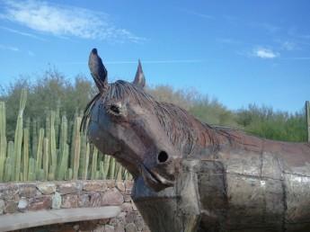 Tohono Chul Bronze Horse