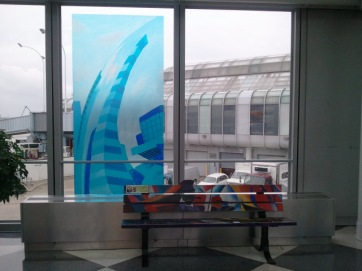 Corridor Gallery Cityscape between Terminal 1 and 2