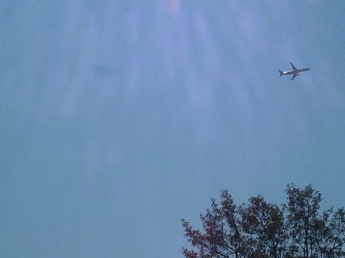 Random plane in sky