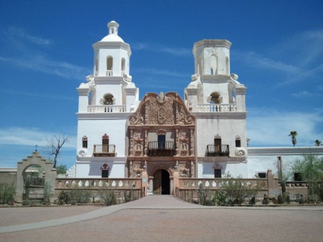 San Xavier del Bac is renowned as an outstanding example of Spanish Colonial art and architecture.