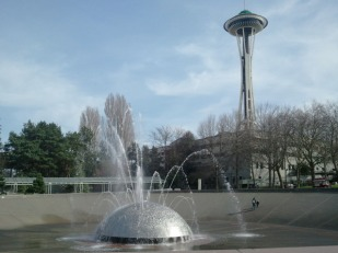 Space Needle and Fountain