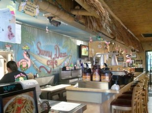 Front bar mural at Sunny Daze cafe