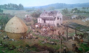 The cyclorama captures the life happening around the battlefield.