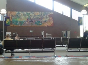 Unnamed Mural in United waiting area.